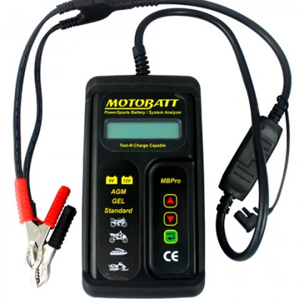 MotoBatt 6-12V Pro Electronic Battery and System Tester