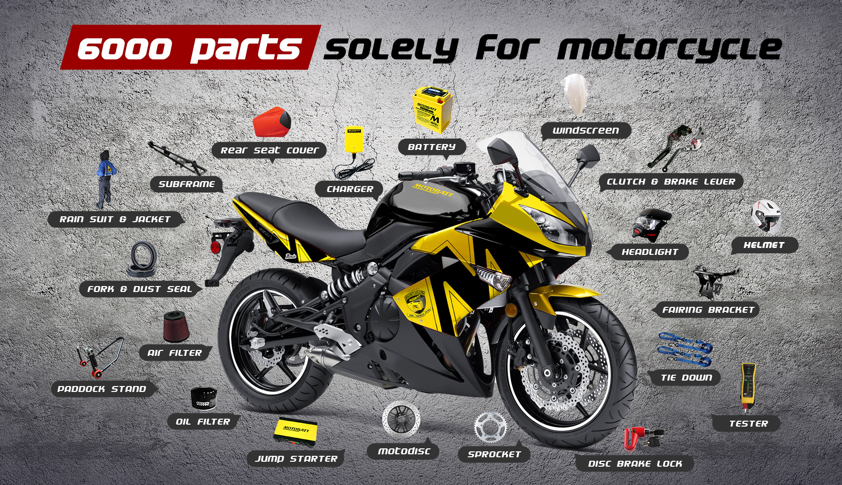 6000part motorcycle