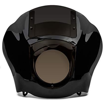 BLACK CLEAR QUARTER FAIRING WINDSHIELD KIT FOR HARLEY DAVIDSON XL FXR DYNA
